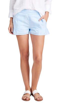 Vineyard Vines Resort Stripe Flounce Pull On Shorts