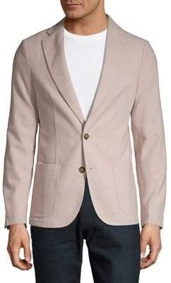 Black & Brown Black Brown Unstructured Wool-Blend Jacket