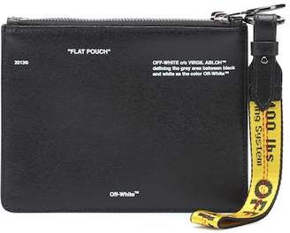 Off-White DiagDouble Flap leather pouch