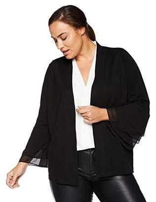 Calvin Klein Women's Plus-Size Tiered Sleeve Open Shrug