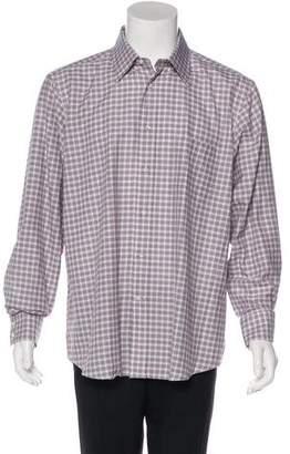 Battistoni Plaid Woven Shirt