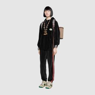 Gucci Chenille jogging pant with patch