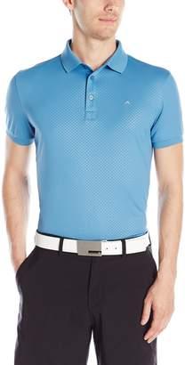J. Lindeberg Men's Michael Scale Sli Fit Tx Jersey+ Golf Polo Shirt