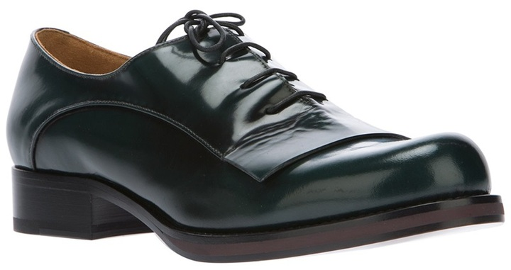 Jil Sander panelled derby shoe
