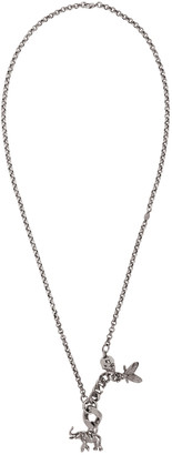 Alexander McQueen Silver Elephant & Fly Necklace $495 thestylecure.com
