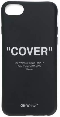 "Off White Black ""Cover"" Iphone Case"