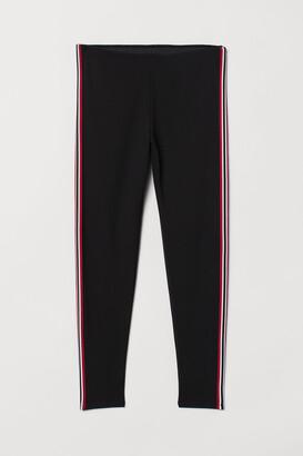 H&M H&M+ Side-striped leggings