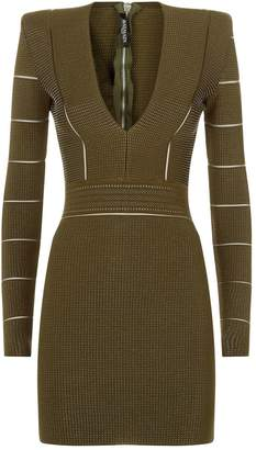 Balmain Stretch Knit Bodycon Dress