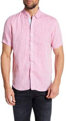 Report Collection Striped Slim Fit Linen Shirt