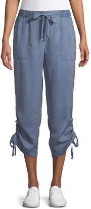 Jones New York Lace-Up Cuff Cropped Pants