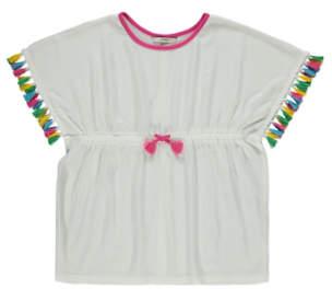 George Rainbow Tassel Kimono Top