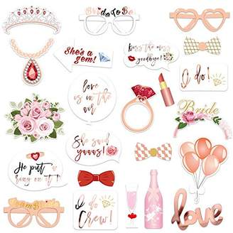 Wedding Bridal Shower Photo Booth Props(23Count)
