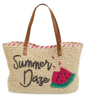 Nordstrom Summer Daze Straw Tote - Brown $49 thestylecure.com