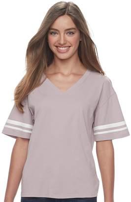 Juniors' Pink Republic Varsity Stripe Tee