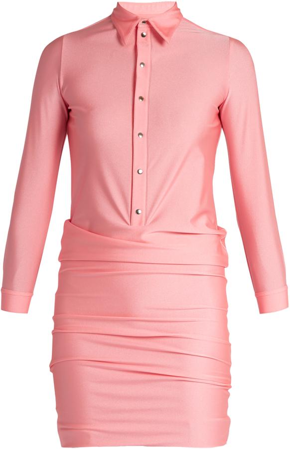 Balenciaga BALENCIAGA Point-collar stretch-fabric shirtdress