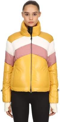 Moncler Lamar Nylon Laqué Down Jacket