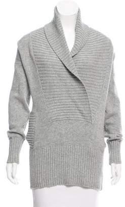 MM6 MAISON MARGIELA MM6 by Maison Martin Margiela Shawl Collar Wool-Blend Sweater