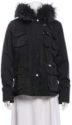 Jocelyn Fur Trim Belted Jacket