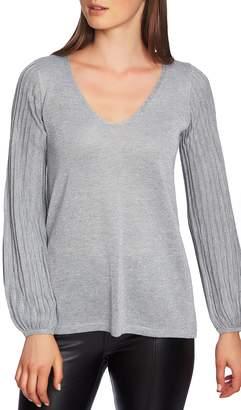 1 STATE 1.STATE Metallic V-Neck Sweater