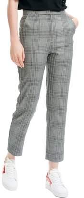 Maje Lino Check Crop Pants