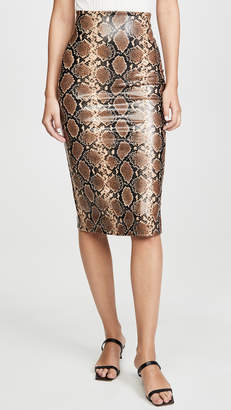 Commando Faux Leather Animal Midi Skirt