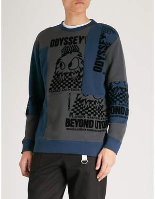 McQ Patchwork cotton-blend sweatshirt