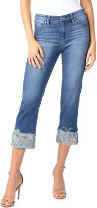 Liverpool Sadie Embroidered Crop Straight Leg Jeans