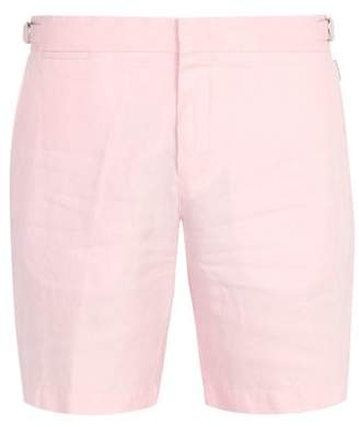 Orlebar Brown Norwich Linen Shorts - Mens - Pink