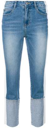 Sjyp folded cuff jeans