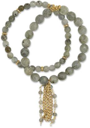 Electric Picks Labradorite & Rosary Chain Shimmer Bracelets (Set of 2)