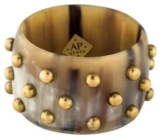 Ashley Pittman Studded Horn Bangle