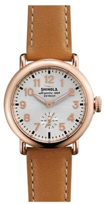 Shinola The Runwell Leather Strap Watch, 36mm