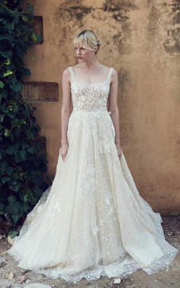 Costarellos Bridal Tulle Ballerina Bodice Peplum Gown