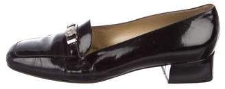 Gianni Versace Patent Leather Square-Toe Pumps