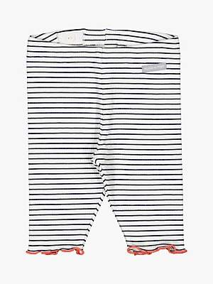 Polarn O. Pyret Baby Stripe Leggings, White