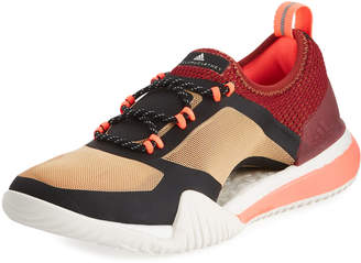 adidas by Stella McCartney PureBoost X TR 3.0 Mesh Sneakers, Black/Red