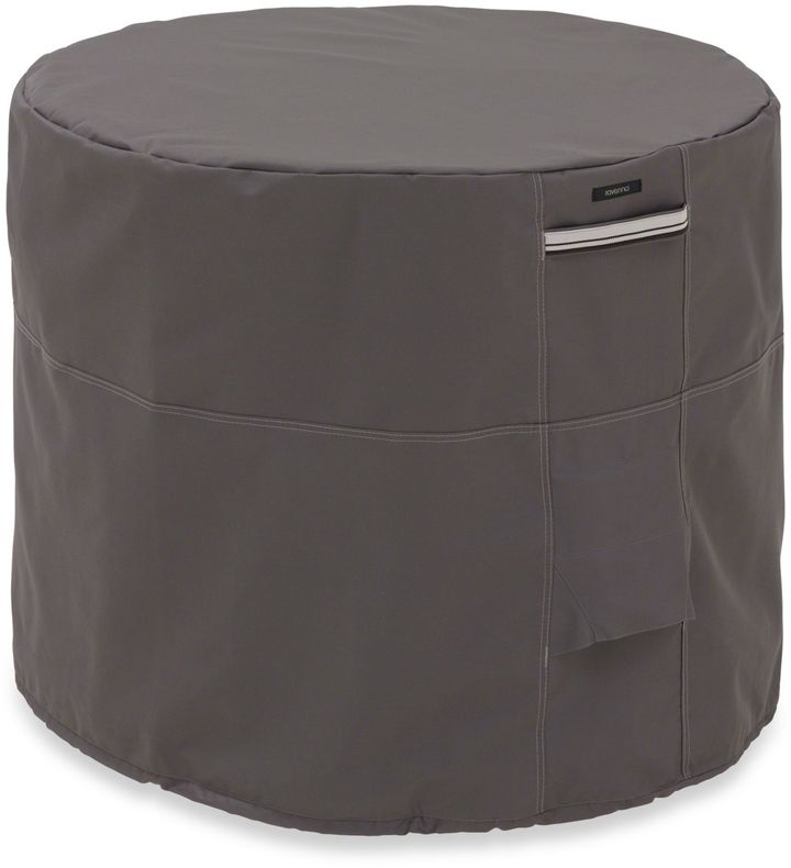 Classic Accessories Ravenna Round Conditioner Cover in Dark Taupe