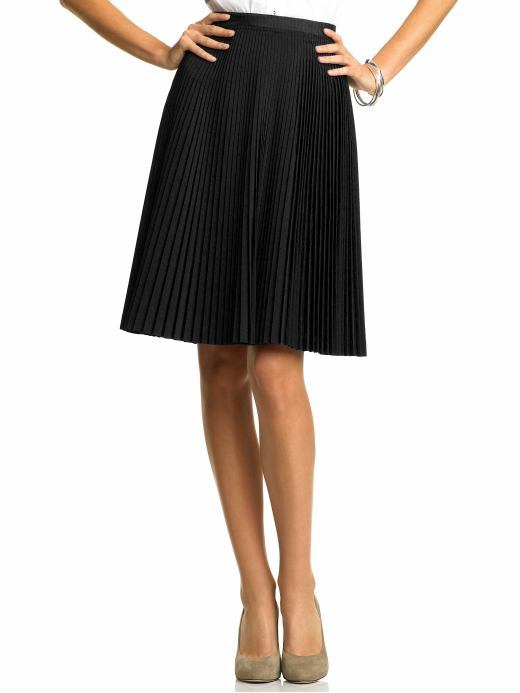 Accordion-pleated skirt