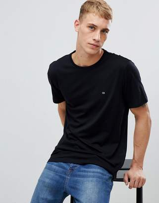 Calvin Klein T-Shirt With Embroidered Logo Black