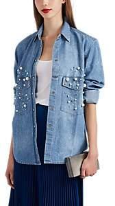 Couture Forte Dei Marmi Women's Embellished Denim Blouse - Blue