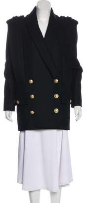 Balmain Wool Short Coat