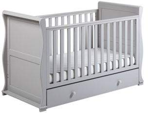 East Coast Nursery East Coast Alaska Cot Bed/pocket Sprung Mattress - Grey