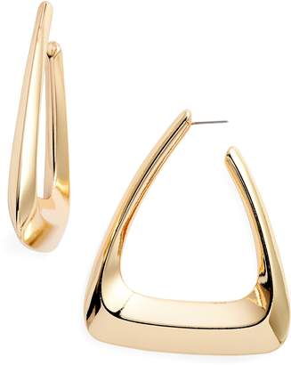 BP Triangle Hoop Earrings