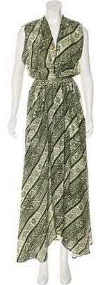 Natalie Martin Silk Maxi Dress