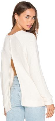 LA Made Eve Zip Back Sweater $105 thestylecure.com
