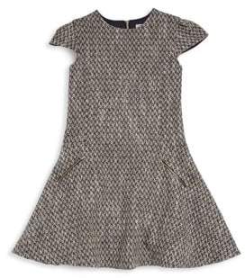Tartine et Chocolat Little Girl's Cap Sleeve Fit-&-Flare Tweed Dress