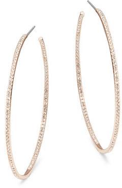 Nadri Large Rose Goldtone Pave Hoop Earrings, 2 in $65 thestylecure.com