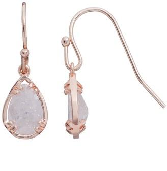 Lauren Conrad Runway Collection Cubic Zirconia Crackle Teardrop Earrings