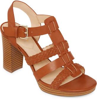 Liz Claiborne Womens Palm Heeled Sandals