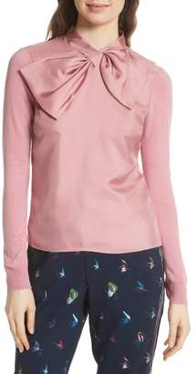Ted Baker Bow Woven Front Sweater